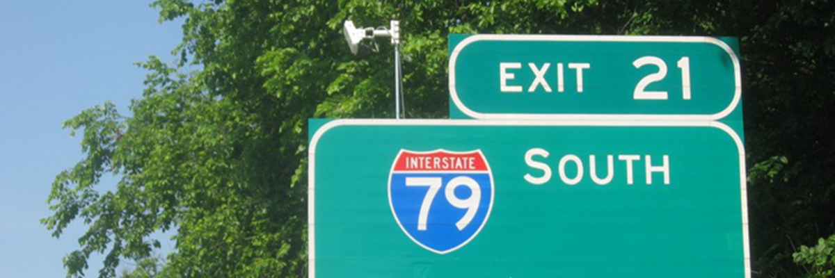 Install of microwave automated traffic recorder counters on Interstate 70 in southwestern Pennsylvania.